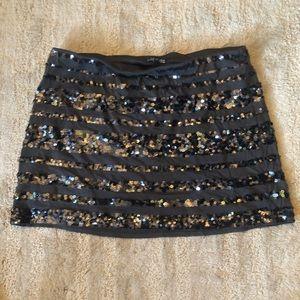 Sequin skirt express large gun mental silver/gray